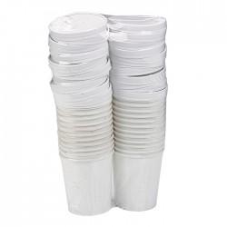 Pot à soupe en carton blanc 350 ml/ 12 Oz avec couvercle