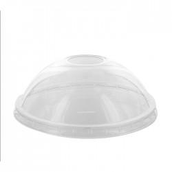 Couvercle dôme en PET transparent 114 mm recyclable