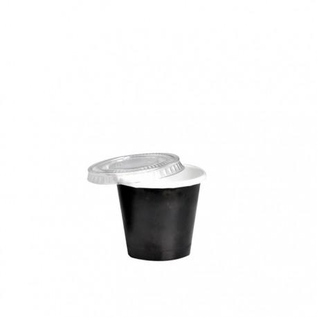Pot à glace en carton impression noire 1,5 Oz / 45 ml