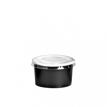 Pot à glace en carton impression noire 2 Oz / 60 ml