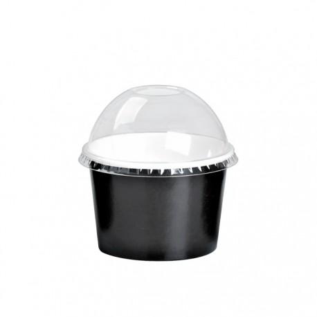 Pot à glace en carton impression noire 4 Oz / 120 ml