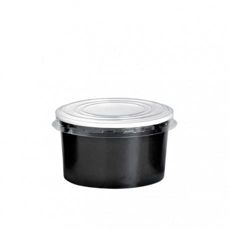 Pot à glace en carton impression noire 5 Oz / 150 ml