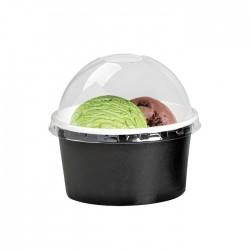 Pot à glace en carton impression noire 6 Oz / 180 ml