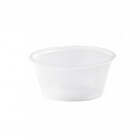 Pot à sauce translucide 80ml