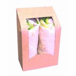 Boîte à sandwich wrapsKraft à fenêtre