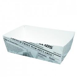 Barquette en carton blanc imp. Journal grand modèle