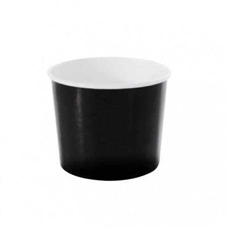 Pot à glace en carton impression noire 8 Oz / 270 ml