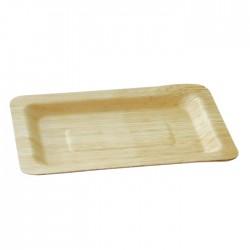 Assiette en feuille de bambou carée grande