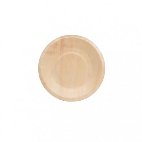 Assiette en bois ronde 190mm