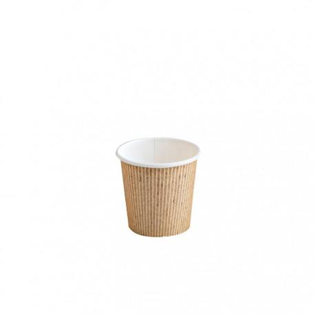 Gobelet carton impression natural PLA 4Oz / 120 ml