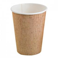 Gobelet carton impression natural PLA 10 Oz / 250 ml