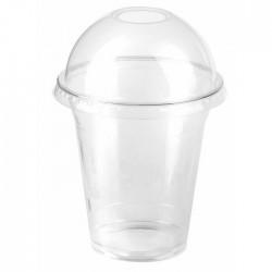 Couvercle dôme transparent en PLA 96 mm avec trou