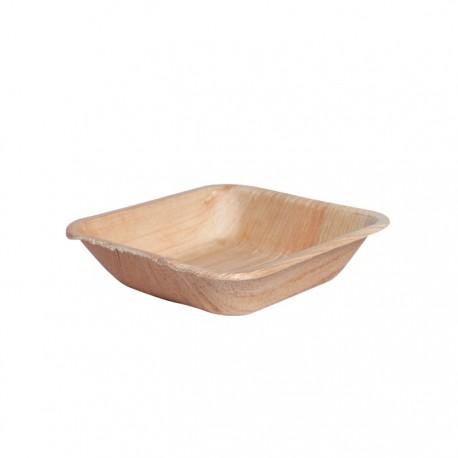 Assiette creuse en palmier carrée 130x130x30 mm