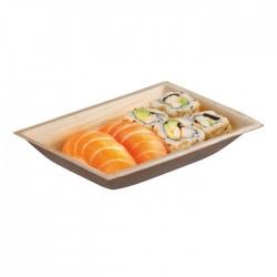 Assiette creuse en palmier rectangulaire 177x127x30mm