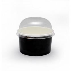 Couvercle dôme transparent sans trou