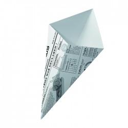 Cône en carton blanc imp. Journal petit modèle