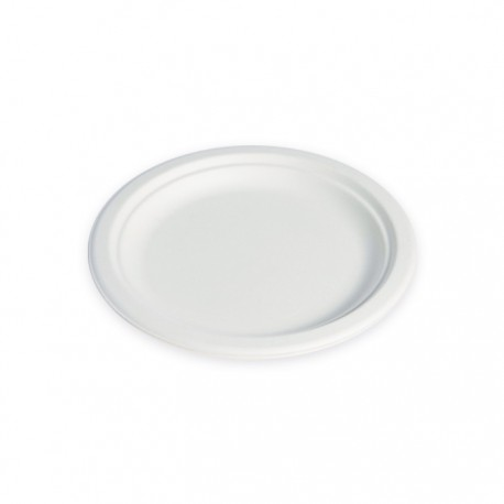 Assiette ronde canne à sucre 220 mm
