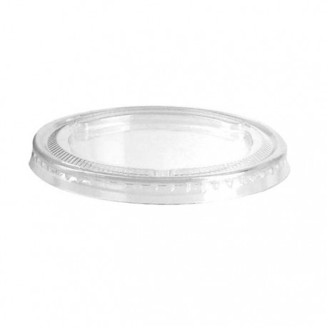 Couvercle plat transparent sans trou pour pot