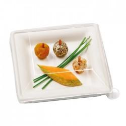 Assiette canne à sucre carrée 160x160 mm