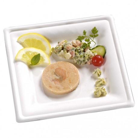 Assiette canne à sucre carrée 200x200 mm