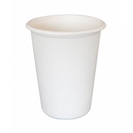 Gobelet canne à sucre 400 ml blanc / 14 Oz