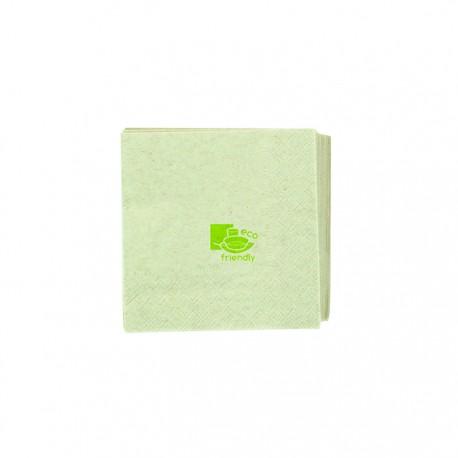 Serviette écrue 100% recyclée 2 plis / 200x200 mm