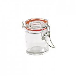 Mini bocal en verre 45 ml avec fermeture hermétique métalique