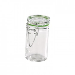 Mini bocal en verre 65 ml avec fermeture hermétique métalique