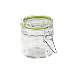 Mini bocal en verre 100 ml avec fermeture hermétique métalique