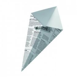 Cône en carton blanc imp. Journal moyen modèle