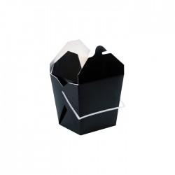 Grand pot à pates noir avec anse