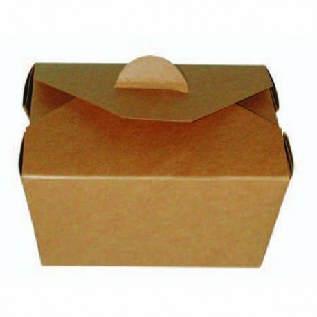 Boîte à repas bio en carton kraft 600ml