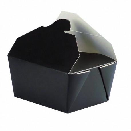 Boîte à repas bio en carton noir 600ml