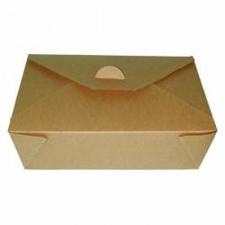 Boîte à repas bio en carton kraft 1000ml