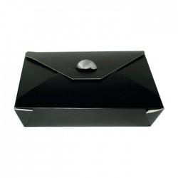 Boîte à repas bio en carton noir 1500ml