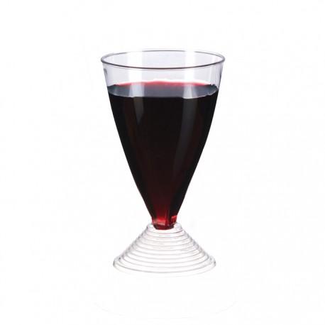 Verre à vin à pied en plastique 150 ml