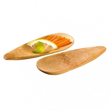 Mini assiette bambou ronde Pattaya 100x40 mm