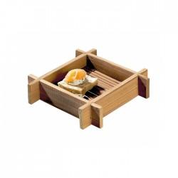 Mini plateau carré en bambou 120x24 mm