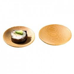 Mini assiette ronde en bambou naturel