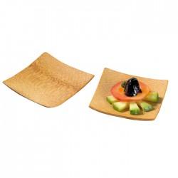 Assiette carrée bambou 60x60 mm