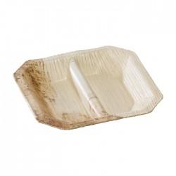 Assiette mini en bambou avec deux compartiments