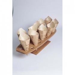 Support en bambou 20 trous pour cônes 500 x 150 mm