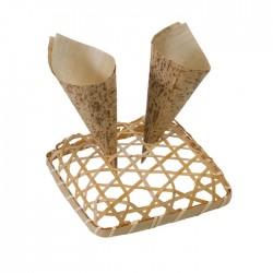 Socle tressé en bambou pour cônes 150x150 mm