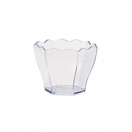 Verrine en plastique transparente verte 60 ml