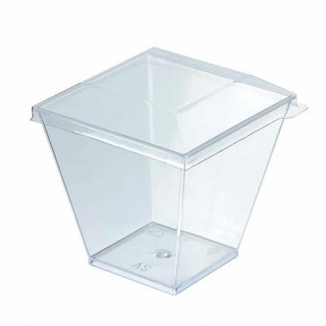 Couvercle transparent en plastique recyclable 61x61 mm