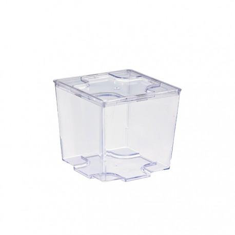 Mise en bouche transparente carrée 90 ml