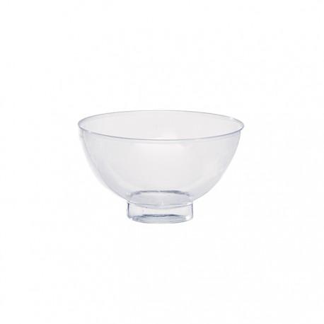 Mini bol en plastique recyclable transparent 2Oz