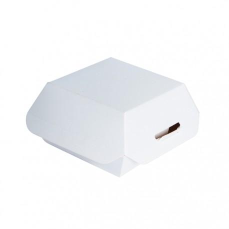 Mini boite à hamburger blanche