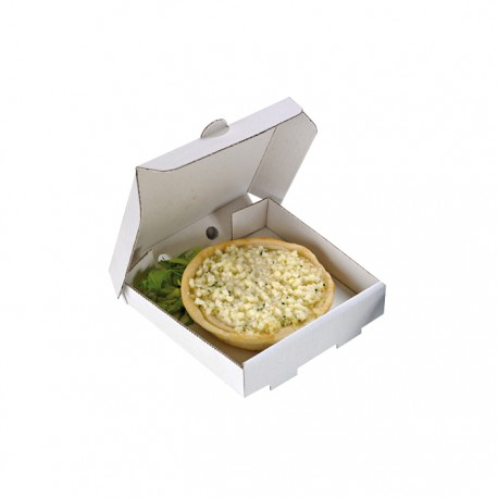 Mini boite à pizza blanche